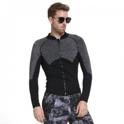 Man Two Piece Long Sleeves 3Mm Thicken Diving Suit Waterproof Warm Winter Swimming Suits