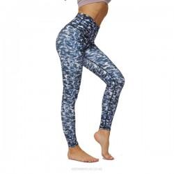 High Waist Hip Lift Yoga Pants WomenS Printing Pocket Elastic Tight Pants Sport Bodybuilding Pants