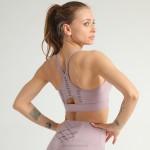 Bag Sport Bra Tulle Shockproof Push Up Ruffle Yoga Bra