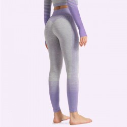 Ins Stripe Quick Drying Bodybuilding Pants WomenS Knitted Elastic Tight Sport Hip Lift Yoga Pants