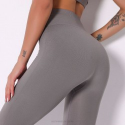 Seamless Yoga Pants High Waist Tight Hip Lift Pure Colour Running Sport Pants Bodybuilding Pants WomenS