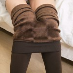 200G Pearl Seamless Pants Thicken Warm Leggings WomenS